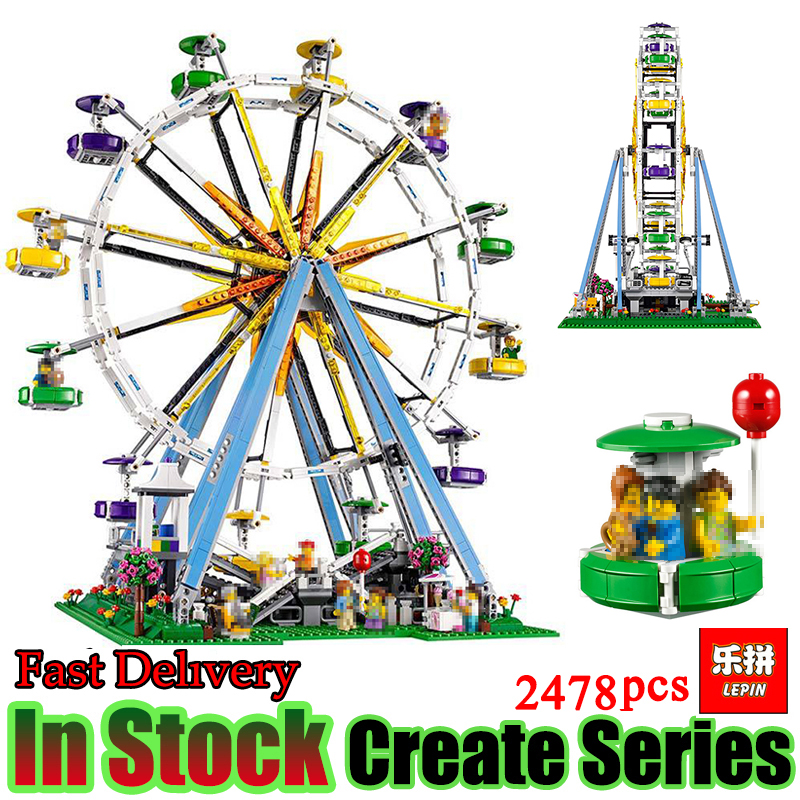 LEPIN 15012 2478Pcs City Expert Ferris Wheel Model Building Kits Block Bricks Model game Compatible 10247 DIY Toy For Children lepin 15012 2478pcs city series expert ferris wheel model building kits blocks bricks lepins toy gift clone 10247