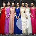 Verão vestido de dama de honra da dama de honra vestidos longos estilo slim fit vestidos para damas de honra do baile de finalistas ROM80018