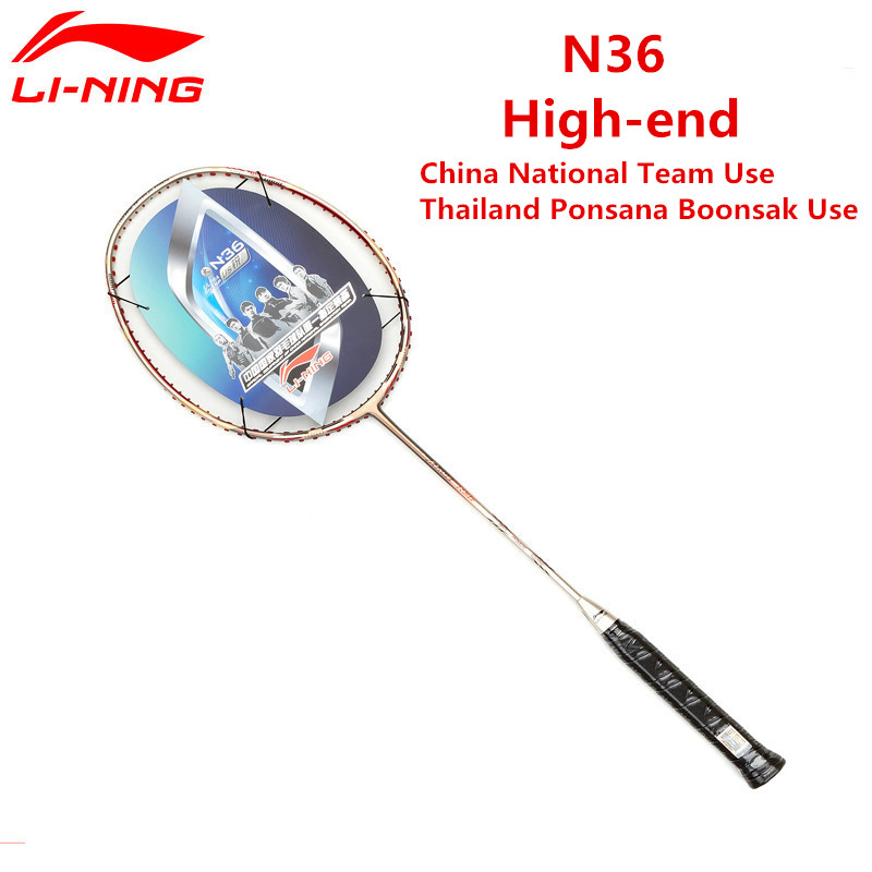 Li-ning chine Nation équipe raquettes de Badminton flamme N36 Type offensif raquette AYPG002 Li Ning TB NANO Fiber de carbone raquette L536OLB