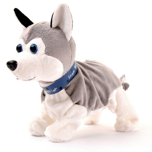 Image 1 - Electronic Pets Sound Control Robot Dogs Bark Stand Walk Cute Interactive Toys Dog Electronic Husky Pekingese Toys For Kids