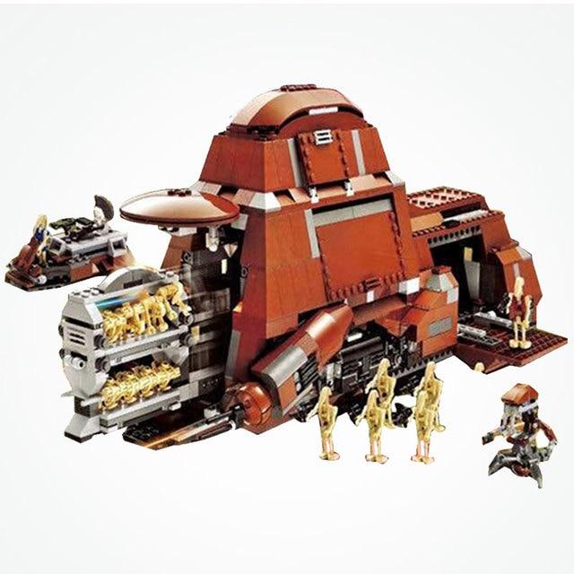 US $75 0 |Block 05069 Star Wars Trade Federation MTT Tank 1338Pcs  Compatible Legoing Starwars in Building Blocks 7662 Toys For Children-in  Blocks from