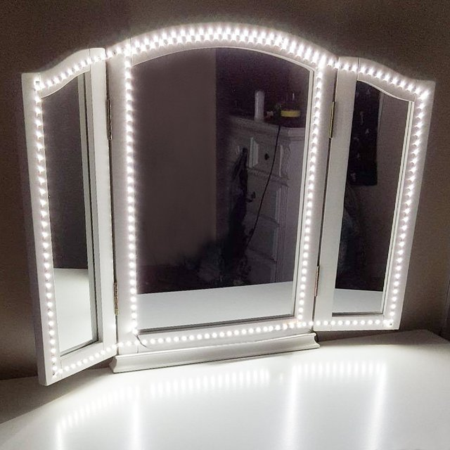 240 LEDs Makeup Mirror Vanity Mirror Light with Dimmer Power Supply For Dressing Table With Manual Makeup Mirror Lights