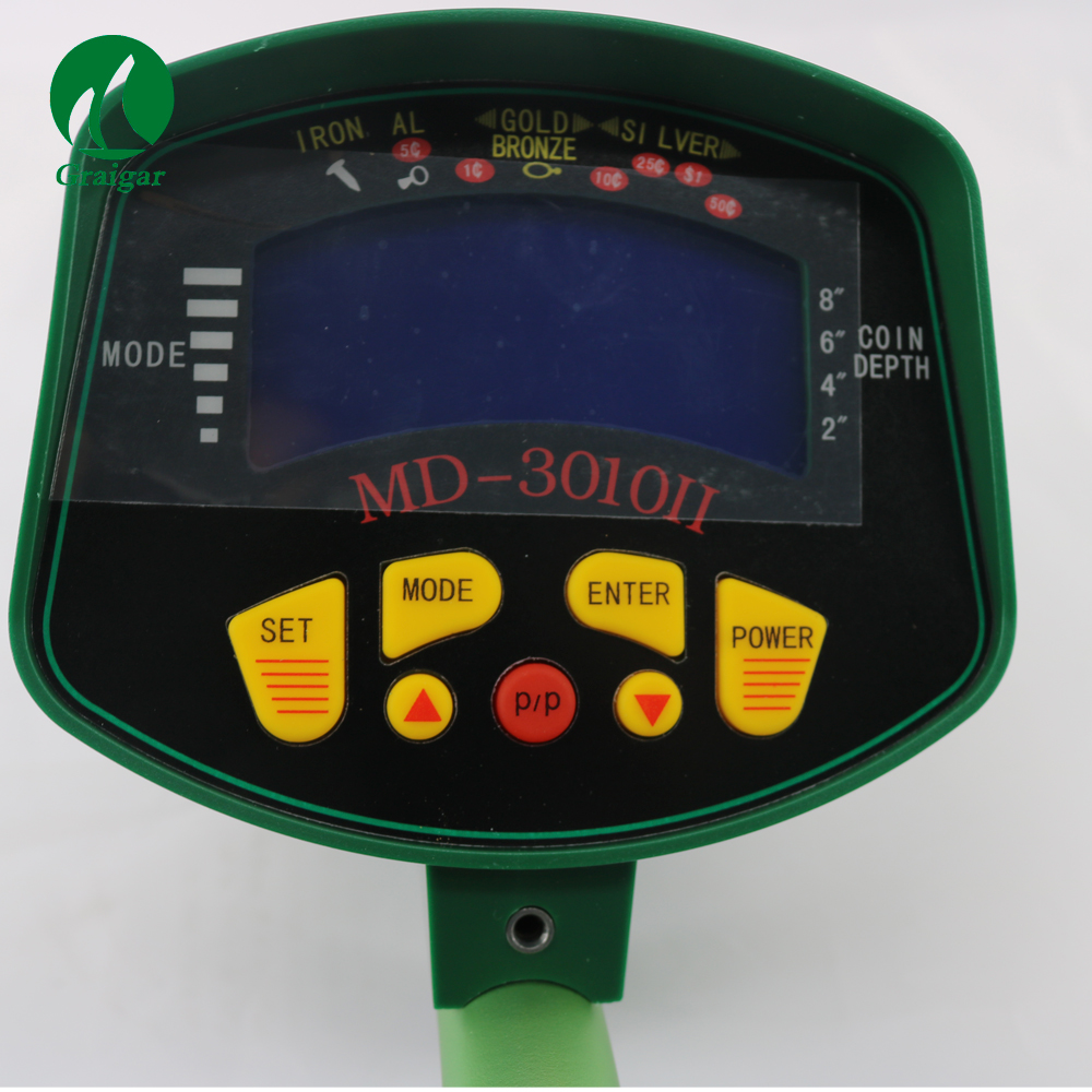 MD-3010II LCD with light display Underground Metal Detector Three Colors to Chose Yellow Black Green Via DHL