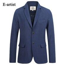 E-künstler herren Business Casual Blazer Jacken Slim Fit Anzug Mäntel Dünne Einfarbig Outwears Plus Größe 5XL X18