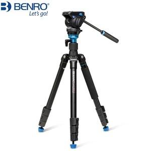 Image 1 - Benro 三脚 A2883FS4/A1883FS2C 写真カメラビデオヘッド一脚油圧ダンピングヘッド