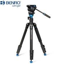Tripé benro a2883fs4/a1883fs2c, câmera fotográfica, cabeça de vídeo, monopé, amortecimento hidráulico