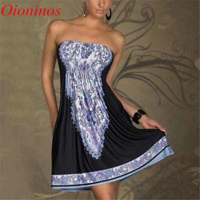 Sexy vestidos de las mujeres mini dress casual floral bandeau beach verano de bo