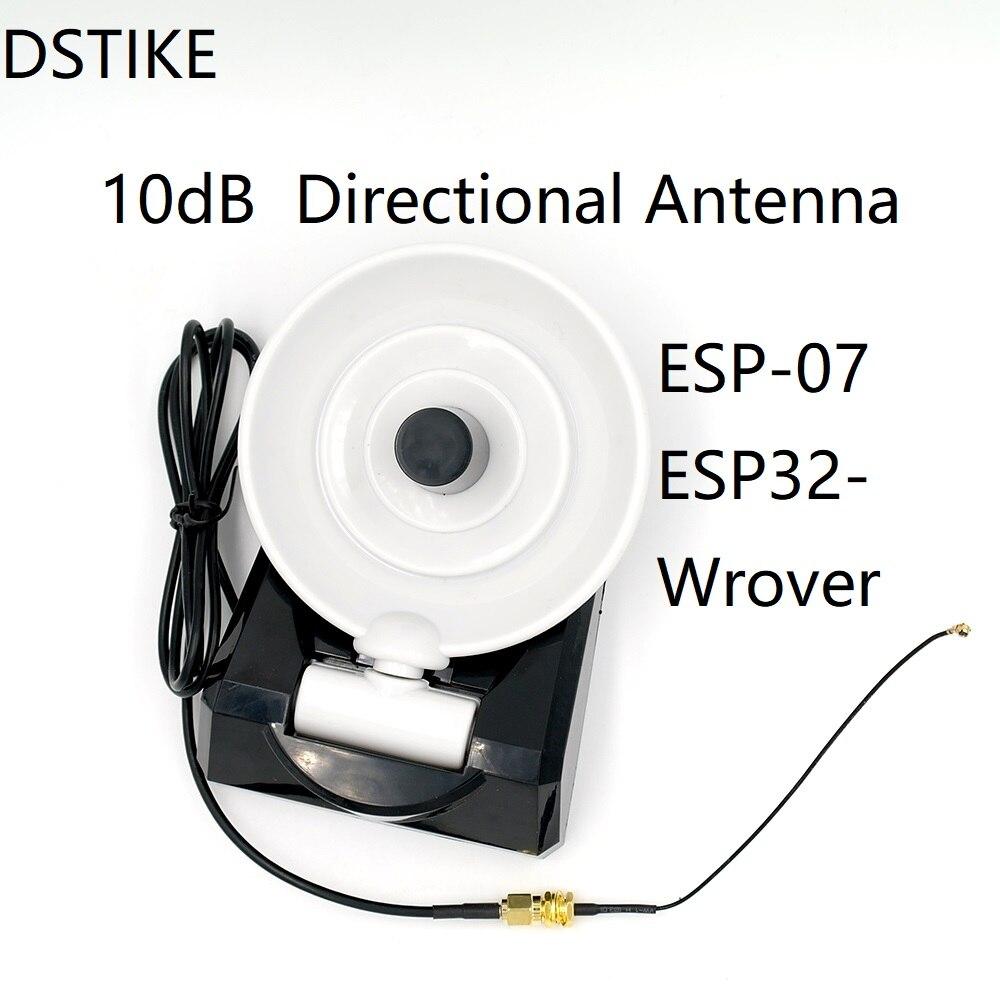 10dB Directional Antenna for ESP-07/ESP32-Wrover
