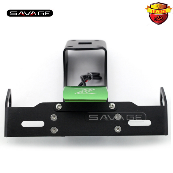 For KAWASAKI Z1000 Z1000SX NINJA 1000 Green Motorcycle Tail Tidy Fender Eliminator Registration License Plate Holder LED Light motorcycle tail tidy fender eliminator registration license plate holder led light for kawasaki ninja 1000 ninja1000 2011 2015