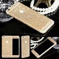 Nuevo para el iphone 6 bod engomada de la piel completa para el iphone 6 s etiqueta engomada 6 s plus Skin Wrap Bling de 360 Grados Brillo de Bling Teléfono protectora