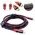New Braided HDMI Cable V1.4 1.5/3/5/10m HDMI CAble AV HD 3D for PS3 Xbox HDTV Meters 1080P DF #ED