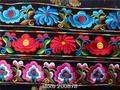 C47  China Miao Tribal Embroidered Decor Belt, 5mm,10pcs lot Wholesale Ethnic Flower Belts