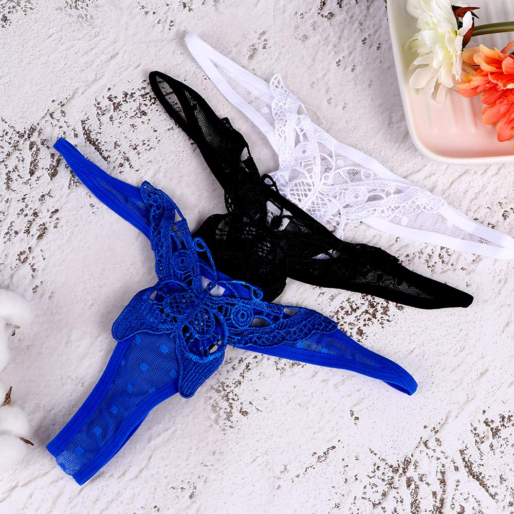 Butterfly Embroidery Sexy Panties Thong Women G-String Underwear Female Exotic Lingerie Thongs Girl G-String Briefs Tangas