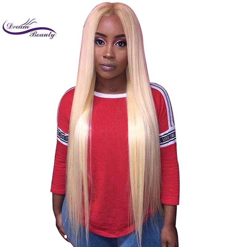 Мечта красота блондинка 613 Бразильский Волосы remy 130 Плотность 13x6 глубокая средняя часть синтетические волосы на кружеве человеческие вол...