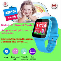 GPS Kids Smart Watch With Early Learning 1 44 Inch Touch Screen Wifi Baby Clock SOS