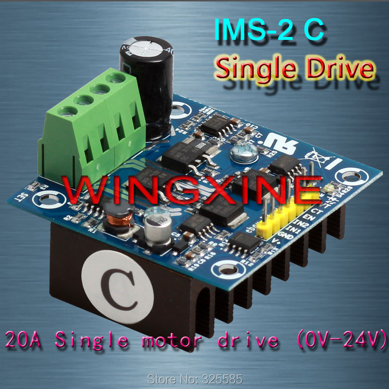 Free shipping IMS-2C 20A0V-30V  H Bridge DC Motor Driver Module PID for Smart RC Intelligent Car 200 kHz(MAX) PWM