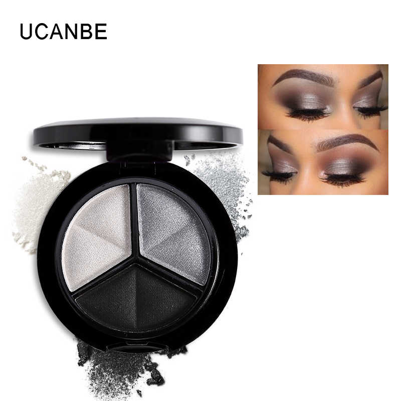 Ucanbe Makeup Shimmer Eyeshadow Palet 3 Warna Smoky Kosmetik Set Profesional Alami Eye Shadow Sleek Palet Glitter