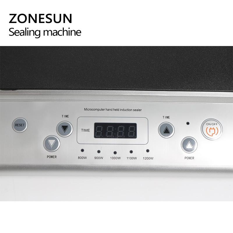 Zonesun GLF 500L microcomputador mão realizada indução eletromagnética tampa da folha de alumínio máquina de selagem de indução contínua aferidor - 2