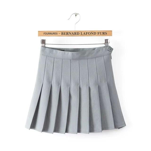 e924443289 10 Candy Color Cute Pleated Skirt Summer Style Knee length Tennis ...