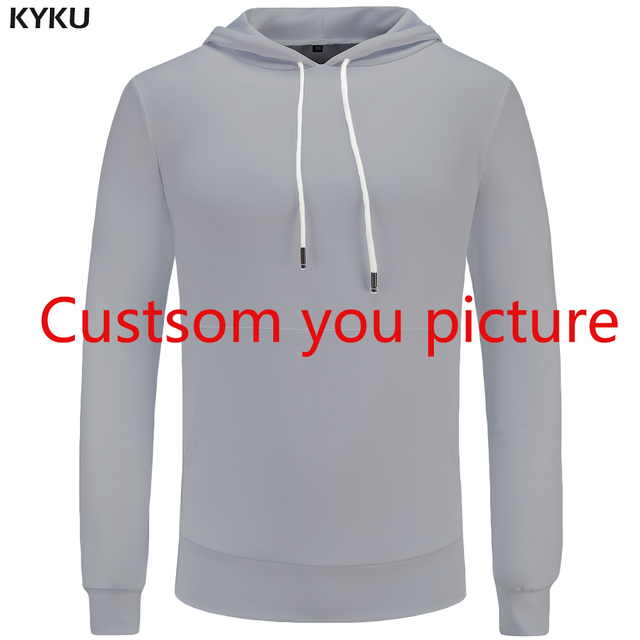 f8fd0d89a8af2 KYKU Sweatshirt Customized Picture Men Hoodies Sweatshirts Customize XS-8XL Hoodie  Plus Size