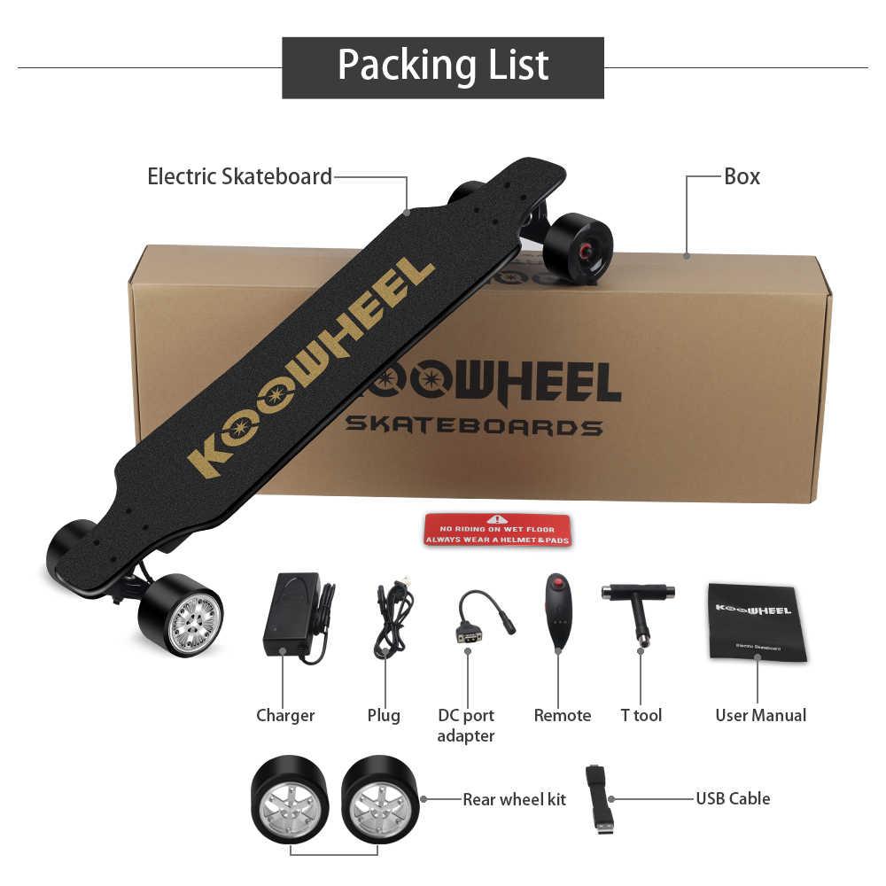 2019 Koowheel الكهربائية لوح التزلج 2nd الجنرال ترقية 4 عجلة الكهربائية Longboard سكوتر المحرك المزدوج قوية التزلج ل الكبار