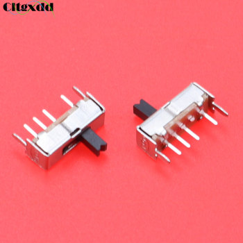 Cltgxdd 1pcs Mini Toggle Switch SS13D07G4 3 Position SPDT 1P3T 6 Pin PCB Panel Mini Vertical Slide Switch Handle height : 4MM image