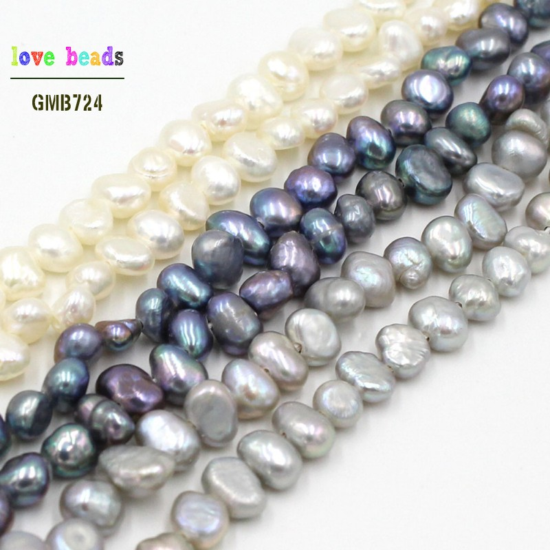 Loose-Beads Bracelet-Strand Jewelry-Making Freshwater Pearl Grey Natural-Irregular 3-5mm