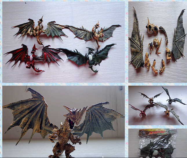 1pcs hot sale DIY dragons <font><b>toy</b></font> education <font><b>toy</b></font> with wings classic <font><b>toys</b></font> for children gifts <font><b>dinosaur</b></font> action figures image