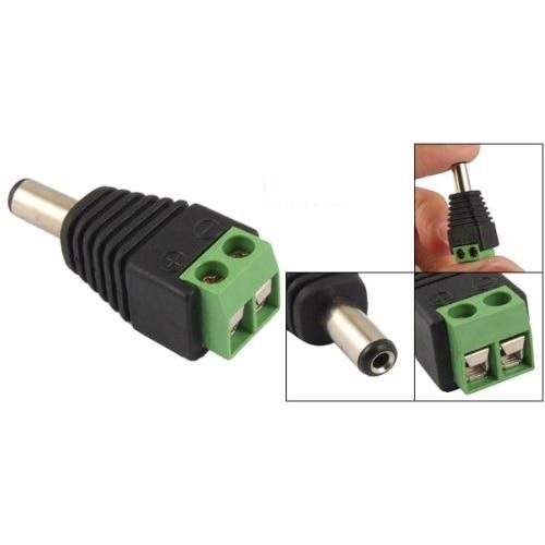MOOL 10 Pcs 2.1x5.5mm Male Jack DC Power Adapter For CCTV Camera