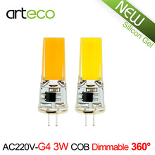 AC220V G4 LED Lamp 3W COB Dimmable LED Bulb 300LM Silicon Gel LED Spotlight Replace Halogen Lamp Chandelier Crystal Light