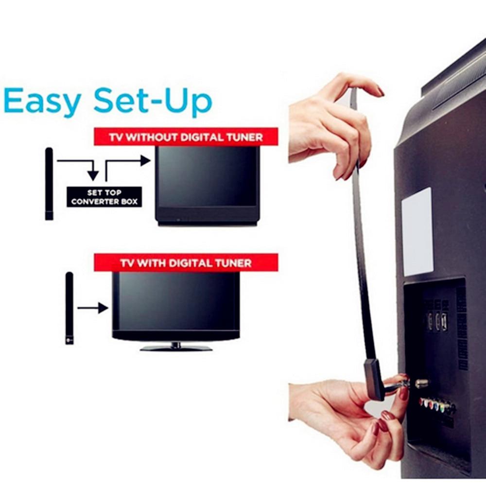 2019 Latest Clear Indoor Digital TV HDTV Antenna UHF//VHF//1080p 4K 80 Miles