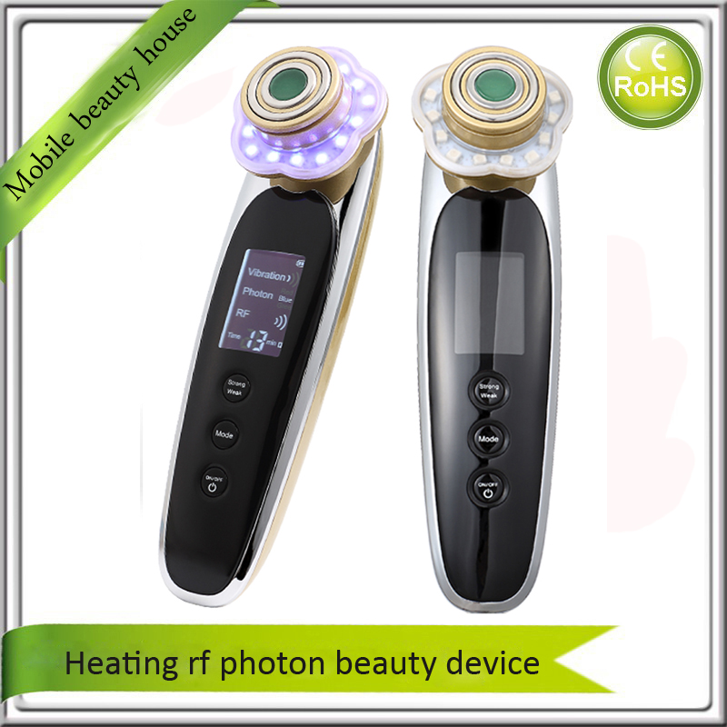 Non-Invasive Jade Skin Care RF Radio Frequency Heating Photon Light Therapy Acne Wrinkle Removal Face Lifting Tightening Machine rf face massage device led photon wrinkle removing skin tightening lifting radio frequency therapy beauty care machine spa