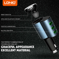 LDNIO 3 Ports Black USB Car Charger 5V 4 2A Mobile Phone Charger For IPhone Samsung