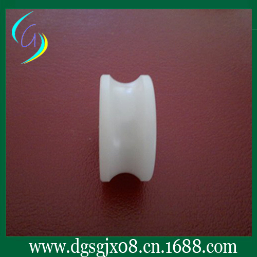 The White Nylon Pulley For Wire And Cable Machine ceramic coated wire guide pulley for wire and cable machine