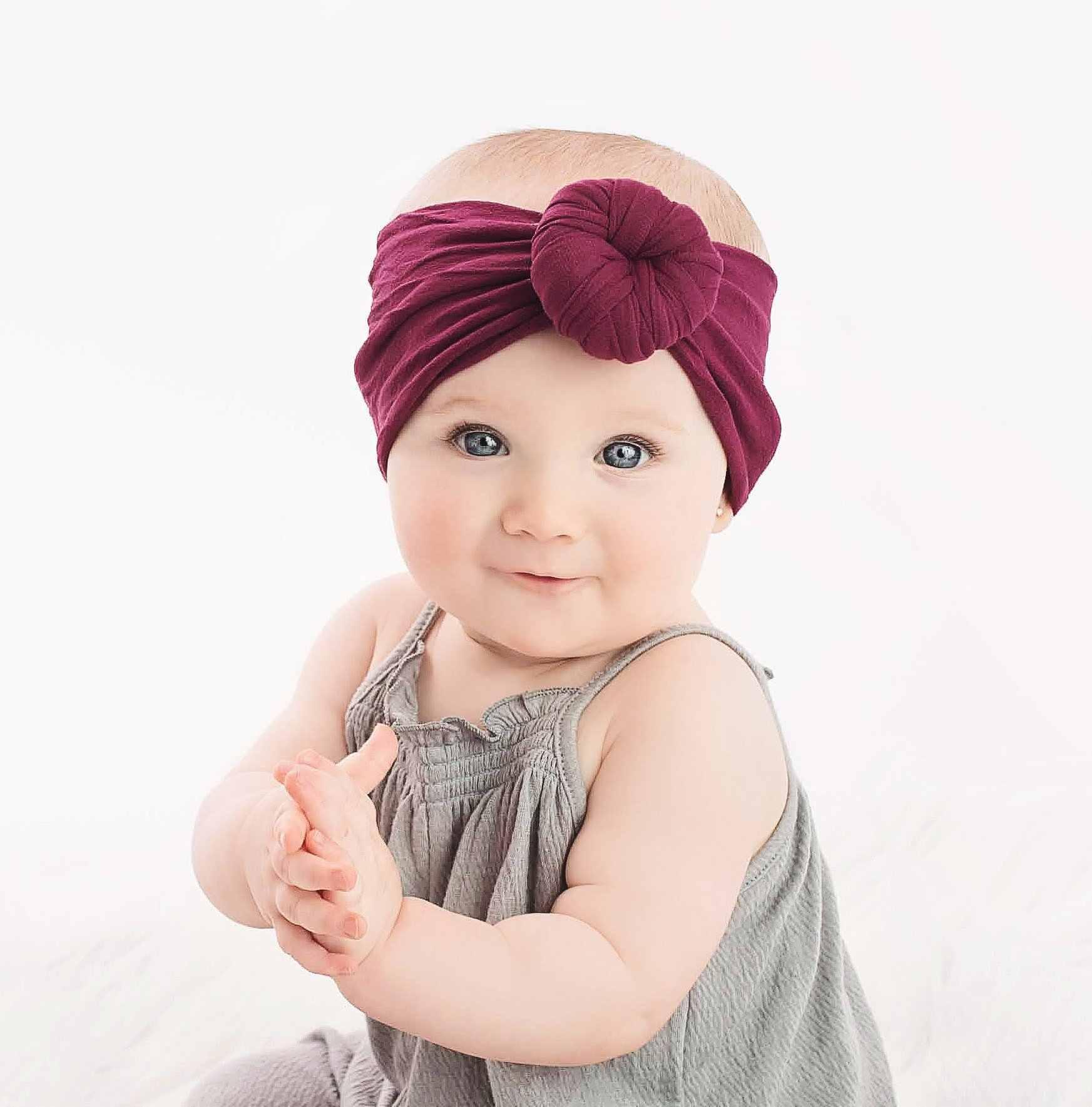 Детская повязка на голову для новорожденных девочек, повязка на голову, тюрбан для младенцев Детские аксессуары для волос, нейлоновая хлопчатобумажная повязка для головы, повязка на голову, забавные, кавайные, мягкие, 2019