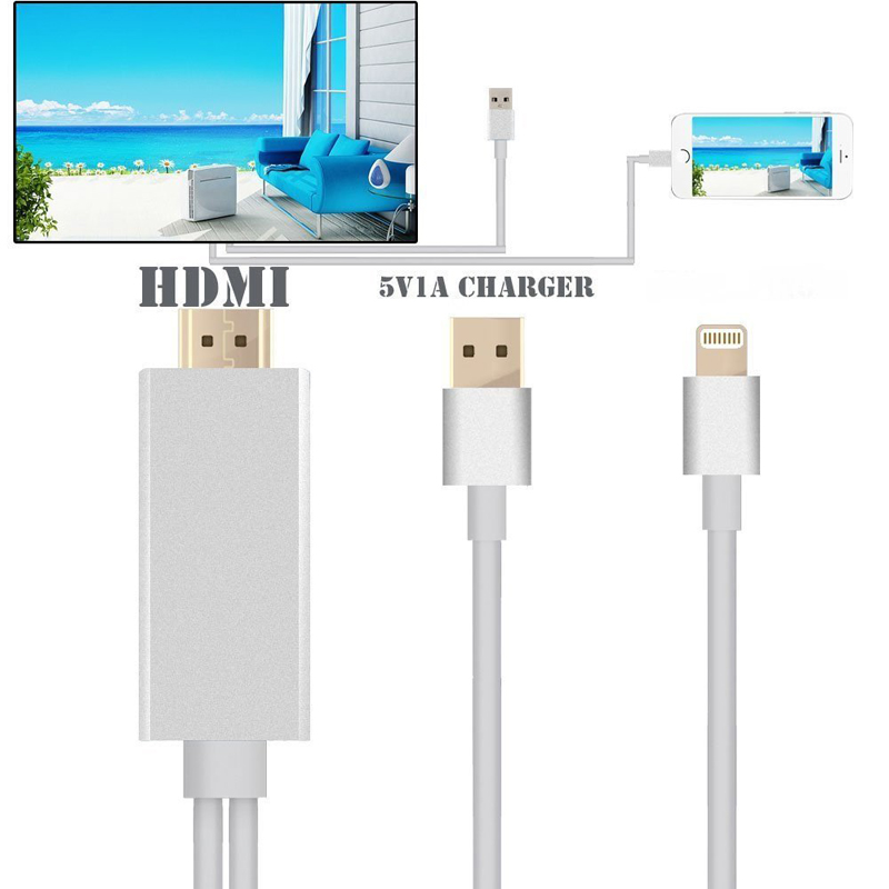 cheap for discount d4436 5039e US $20.99 |2m USB To HDMI Adapter AV TV Hdmi Cable for Iphone 5 5s 6 6s 7  7s IOS 10 WiFi Ipad-in HDMI Cables from Consumer Electronics on ...