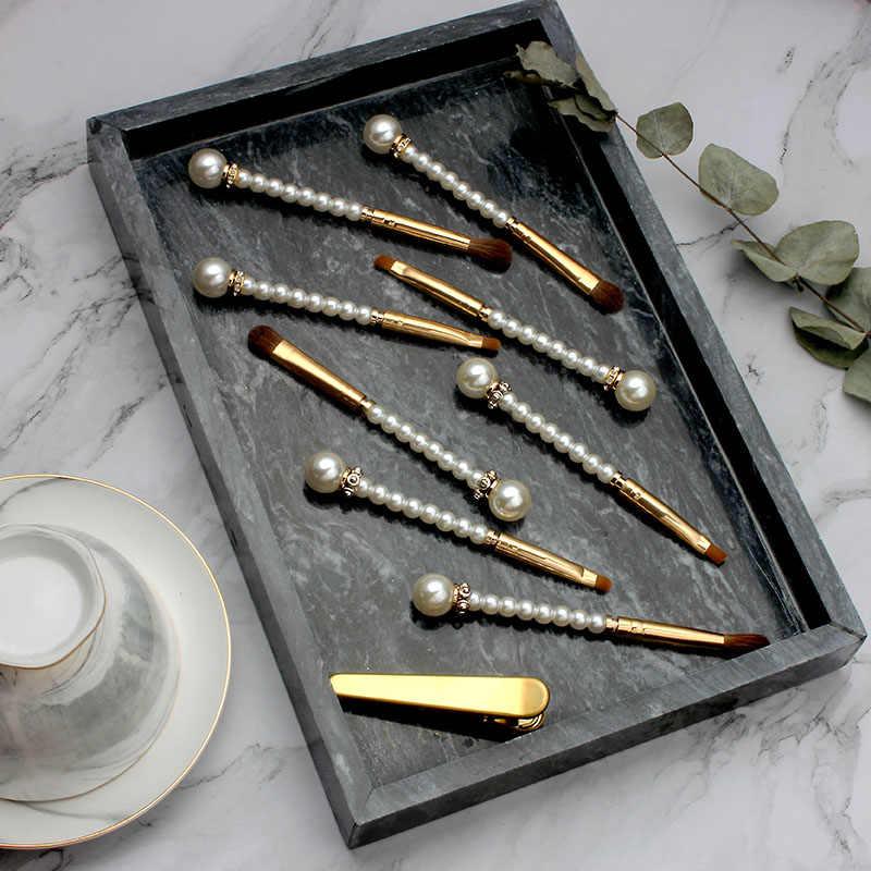 Кисти для макияжа Diamond Pearl Pro, 4 шт., высокое качество, тени для век, губы скошенная Кисть для макияжа глаз, консилер, набор кистей для макияжа, мягкие волосы