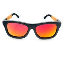 Mens Top Brand Design Wood Sunglasses Handmade Bamboo Sunglasses gafas de sol steampunk Cool Sun Glasses With Box BS010