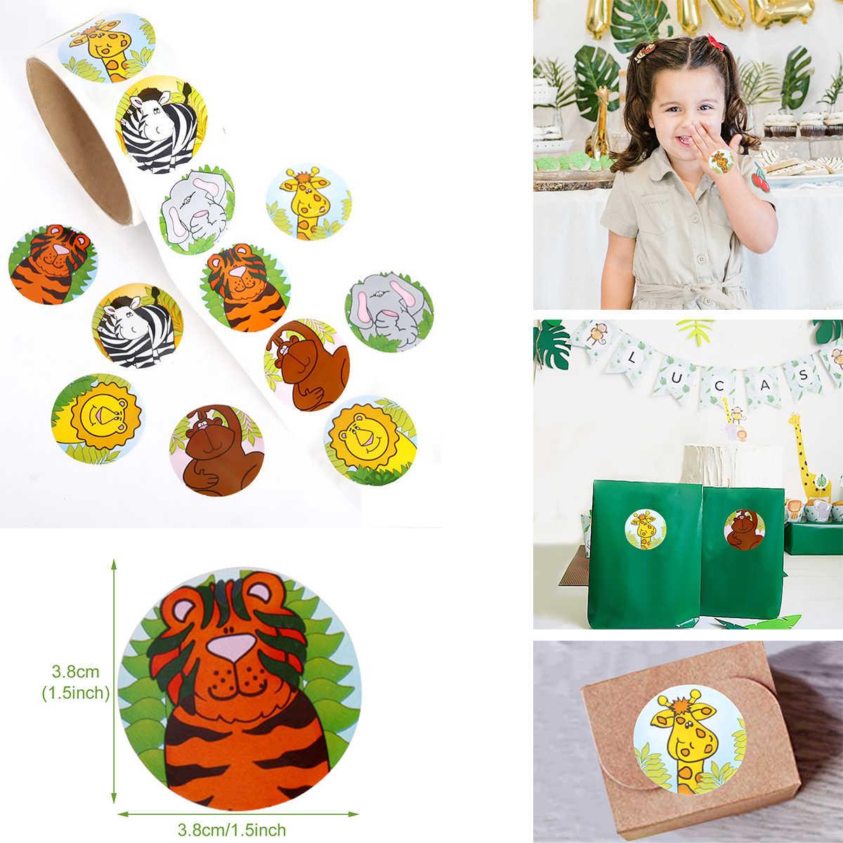 FENGRISE joyeux anniversaire bannière Animal gâteau Topper enfant fête d'anniversaire sauvage Animal Jungle Safari fête fournitures Jungle fête décor