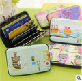 Kawaii Coruja 7 Bolsos Projeto Caixa de Plástico Titular do Cartão de Crédito/Banco Caso do Cartão de Carteira