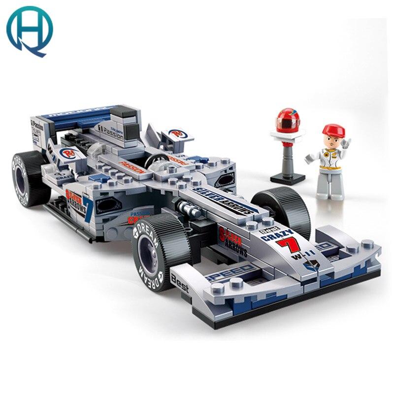 257 Pcs F1 Racing Car Building Block F1 Building Block Eductional Toys Sluban DIY Bricks Compatible With Lego For Boys цена 2017