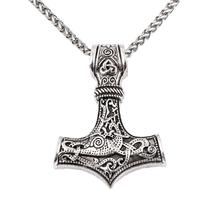 dropshipping thors hammer mjolnir pendant necklace viking scandinavian norse Men gift