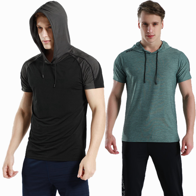 Males Operating T Shirts Gymnasium health Quick Sleeves sweatshirts Fast Dry Coaching Breathable Sports activities train Clothes with hooded Operating T-Shirts, Low cost Operating T-Shirts, Males Operating T Shirts...