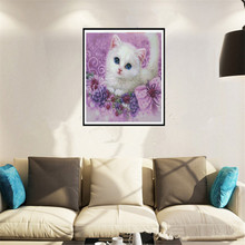 colours cat for 5d diy diamond embroidery painting mosaic beadwork pictures Rhinestones cross stitch living room ZS261