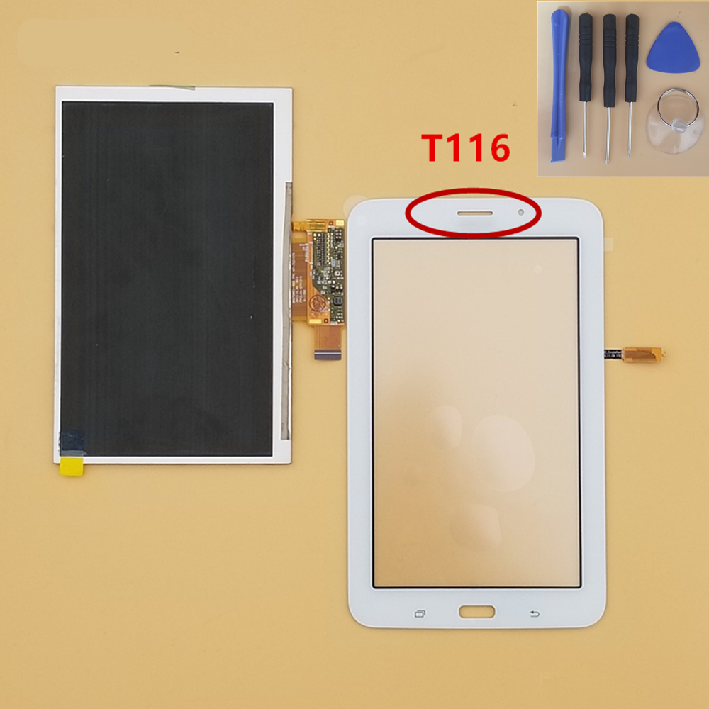 For Samsung Galaxy Tab 3 Lite SM T116 SM-T116 Touch Screen Digitizer Glass Panel+LCD Display Replacement Part BlackFor Samsung Galaxy Tab 3 Lite SM T116 SM-T116 Touch Screen Digitizer Glass Panel+LCD Display Replacement Part Black
