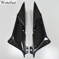Wotefusi Carbon Fiber Motorcycle Pair of Tank Side Cover Panels Fairing for Yamaha R1 2002 2003 Black [PA517]