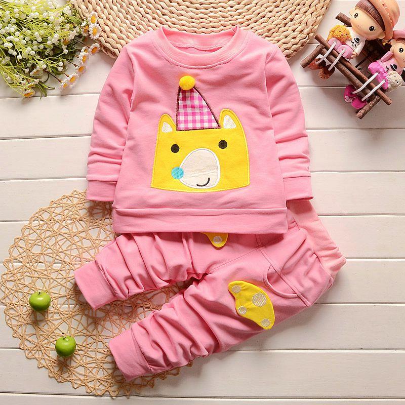iairay marca nuevo primavera beb ropa de beb ropa infantil conjunto productos para bebs pantalones de color rosa de mang