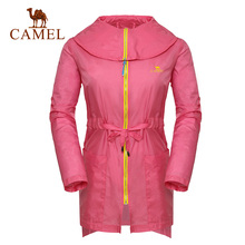 Camel outdoor Women clothing anti-uv breathable trenchA4S117013