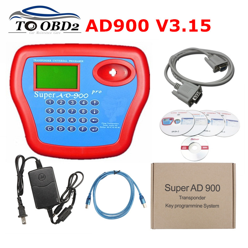 Newest V3 15 Super AD900 Key Programmer With 4D Function Add Copying 4D Chip Recognizing Reading