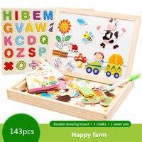 New Arrival deski kreślarskiej magnetyczne Puzzle Pokój Dzieciak Sztalugi Drewniane Zabawki na Prezenty Dla Dzieci Intelligence Development Toy